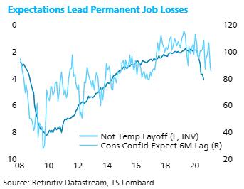 TS Lombard Blog Steven Blitz Job losses